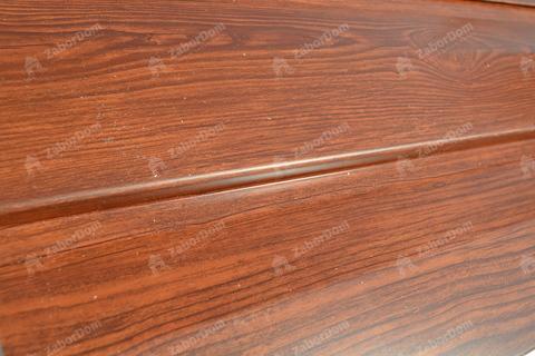 Металлический сайдинг под дерево Металл Профиль корабельная доска Ecosteel Мореный дуб 0,5 мм