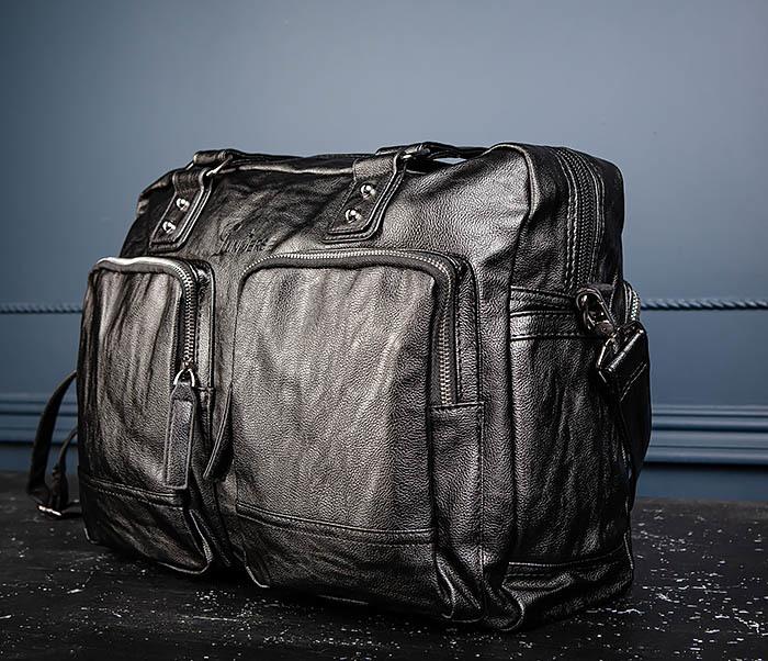 BAG552 Кожаная сумка для поездок с длинными ручками фото 09