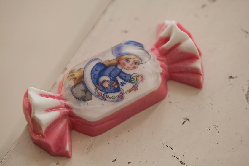 Мыло в форме конфеты. Форма для изготовления