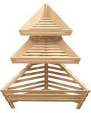 фото 1 Угловой деревянный стеллаж для хлеба Евромаркет на profcook.ru