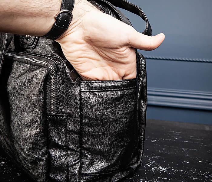 BAG552 Кожаная сумка для поездок с длинными ручками фото 11