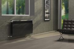 Радиатор биметаллический Royal Thermo Biliner Noir Sable 350 (черный)  - 6 секций