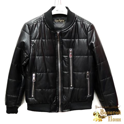 Куртка экокожа мальчику (4-10) 200318-W26.2
