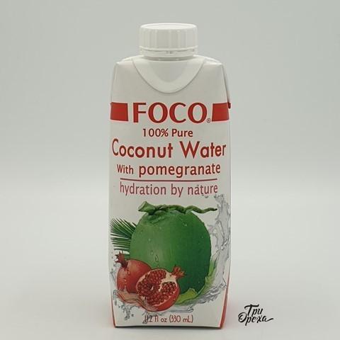 Кокосовая вода с соком граната FOCO, 330 мл