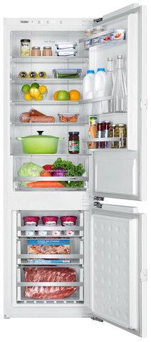 Встраиваемый двухкамерный холодильник Haier BCFT628AWRU