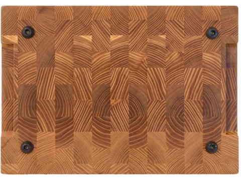 деревянная торцевая разделочная доска из карагача (вяза) 35х25х3 см