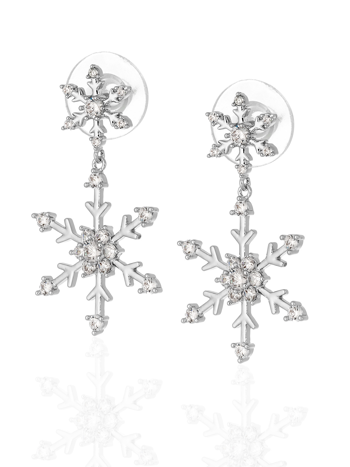 Серьги-снежинки