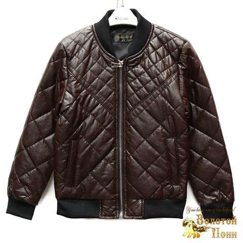 Куртка экокожа мальчику (4-10) 200318-W25.1
