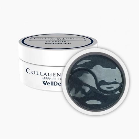 Коллагеновые Патчи На Основе Водорослей WELLDERMA Collagen Impact Sapphire Eye Mask