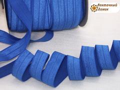 Резинка для повязок  с легким блеском синяя16 мм