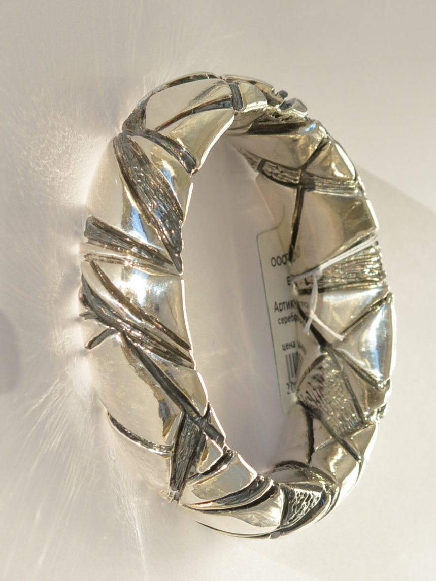 Мозаика Д (браслет из серебра)