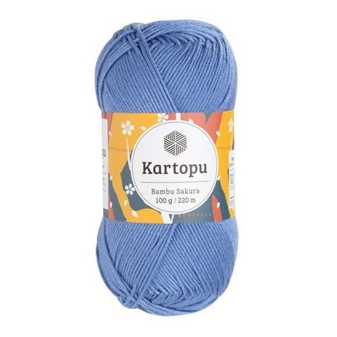 Пряжа Kartopu Bambu Sakura арт. 535 насыщенный голубой
