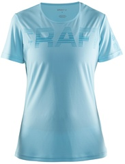 Женская беговая футболка Craft Prime Run Logo 1904342-1304 бирюзовая