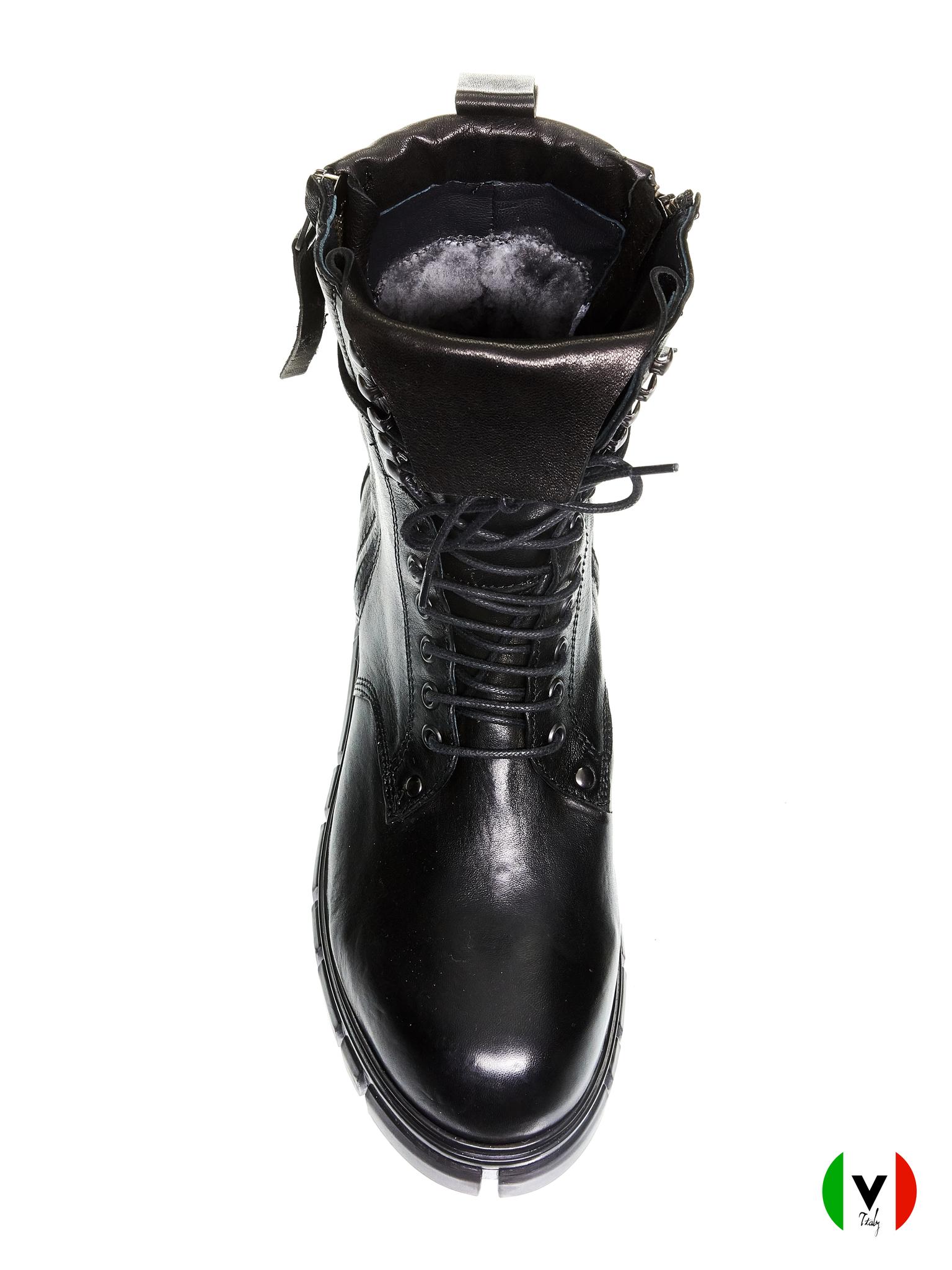 Ботинки Fru.it, артикул 4796, сезон зима, цвет чёрный, материал кожа, цена 19 500 руб., veroitaly.ru