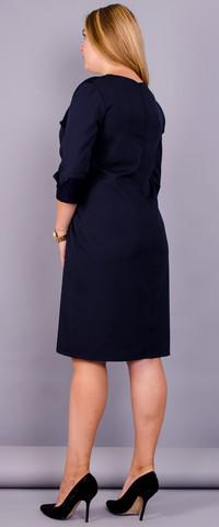 Евелін. Вишукане плаття великих розмірів. Синій.
