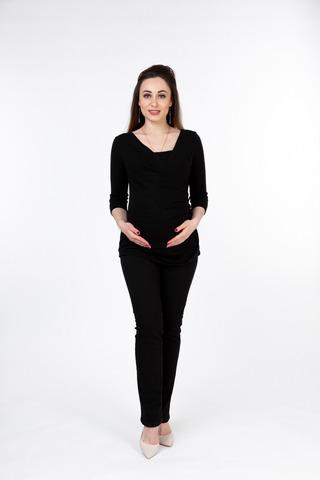Джемпер для беременных и кормящих 09936 черный