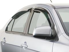 Дефлекторы боковых окон для Honda Jazz 2008-2015 темные, 4 части, EGR (92434023B)