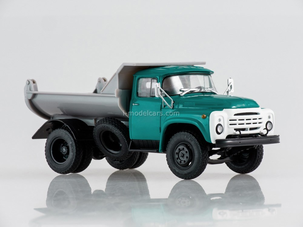 ZIL-MMZ-555 Dump truck (late grille) green-gray 1:43 Our Trucks (limited edition)