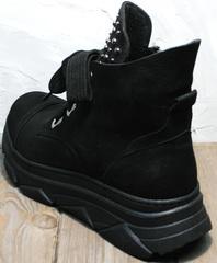 Женские осенние ботинки на шнурках Rifellini Rovigo 525 Black.