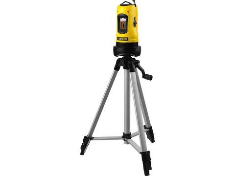 Нивелир лазерный линейный SLL-2, STAYER 34960-H2, штатив, кейс, 10м, точн. +/-0,5 мм/м