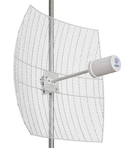 Параболическая MIMO антенна Kroks Rt-Pot 24Grid eQ - 24 дБ со встроенным роутером и модемом