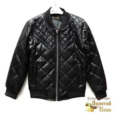 Куртка экокожа мальчику (4-10) 200318-W25.2