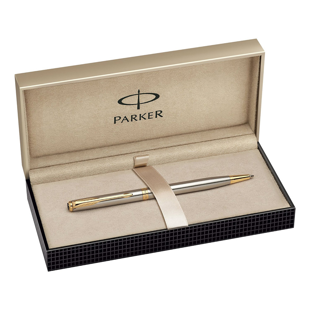 Parker Sonnet - Essential Stainless Steel GT, шариковая ручка, M, BL