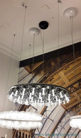 replica Prop Light Single Round Suspension Light by Moooi