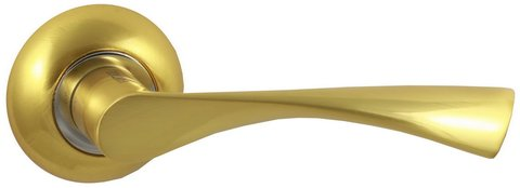 Фурнитура - Ручка Дверная  Vantage V23 C AL, цвет матовое золото алюминий (гарантия - 12 месяцев)
