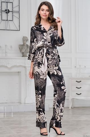 Комплект женский с брюками Mia-Amore DA VINCI Да Винчи 8446 черный