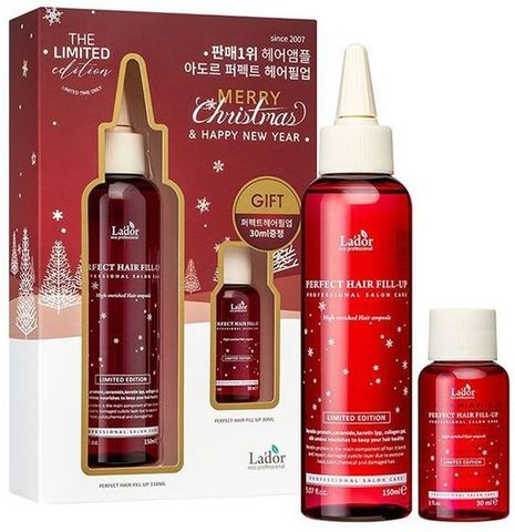 LADOR Филлер для волос набор CHRISTMAS LIMITED EDITION PERFECT HAIR FILL-UP(150ML + 30ML) 150мл/30мл