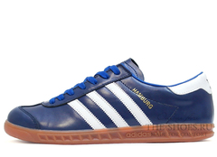 Кроссовки Мужские Adidas Hamburg Original Leather BLue White