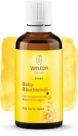 Weleda, Масло для массажа животика младенцев, 50мл