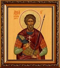 Андрей Стратилат Таврийский мученик. Икона на холсте