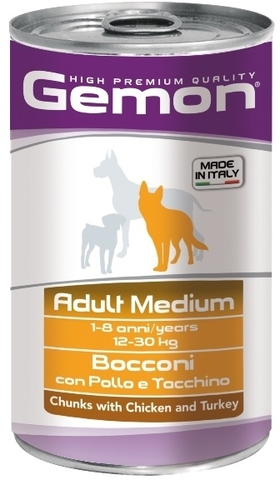 Gemon Dog Medium Adult Chunkies with Chicken & Turkey