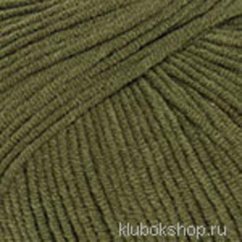 Пряжа Jeans (YarnArt) 82 оливковый-зеленый, фото