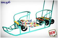 Санки для двойни на колёсиках GALAXY