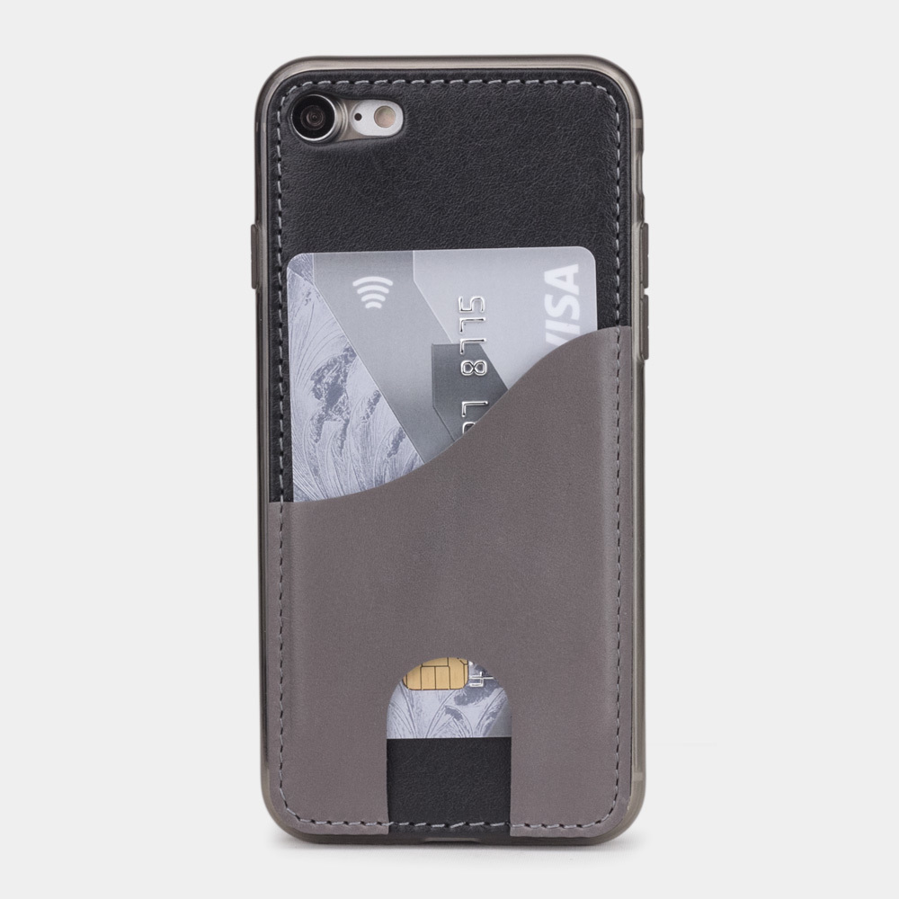 Чехол-накладка Andre для iPhone 7 из натуральной кожи теленка, черного цвета