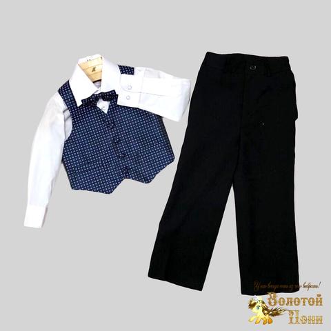 Костюм 4 предмета нарядный мальчику (2-7) 191130-R1515