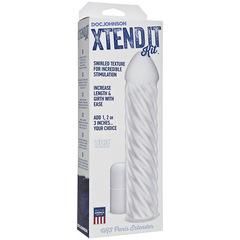 Насадка удлинитель пениса Xtend It Kit - Swirl - UR3® - Frost (4,8 х 20,3 см.)