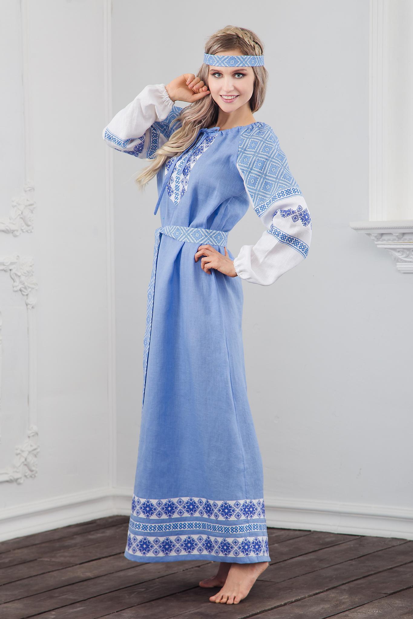 Платье Репейник счастья вид сбоку