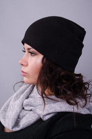 Фэшн. Молодёжные женские шапки. Черный.