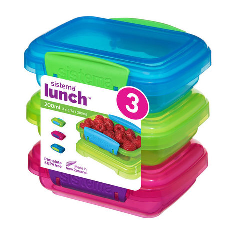 Набор контейнеров Lunch (3 шт) 200 мл, артикул 41524, производитель - Sistema