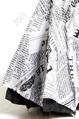 Обратный зонт белая газета механический