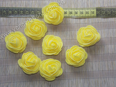 Роза из фоамирана желтая диаметр 4 см