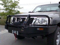 Бампер силовой Black Commercial Nissan Safari/Patrol 61 c 2005 по н.в.