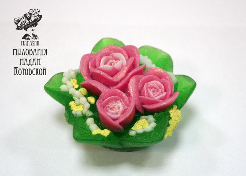 Букет роз, форма силиконовая