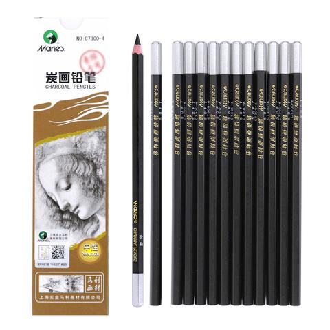 Угольные карандаши MARIE`S, набор 6 штук