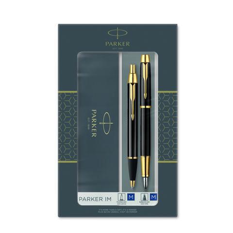 Набор из 2х ручек в подарочной коробке  «Паркер Ай Эм Блэк Джи Ти».  Шариковая ручка и перьевая ручка. Произведено в Китае.