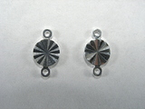 Коннектор-переходник «Круг», 6 мм, 2 колечка, двусторонний, посеребренный, 1 шт.